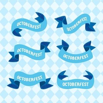 Ręcznie rysowane wstążki oktoberfest