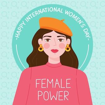 Ręcznie rysowane wydarzenie dzień kobiet
