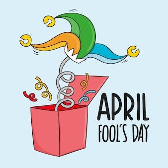 Ręcznie rysowane wydarzenie prima aprilis
