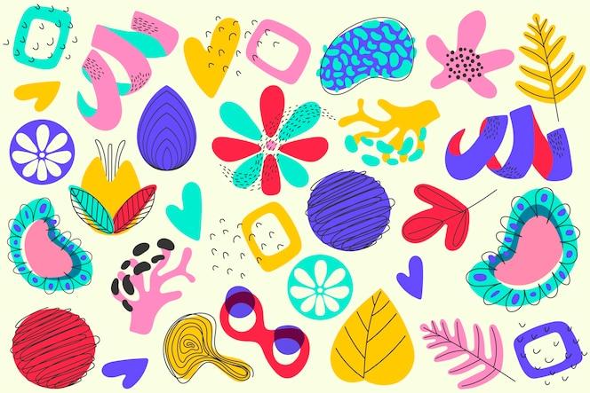 Ręcznie rysowane wygaszacz ekranu abstrakcyjne kształty organiczne
