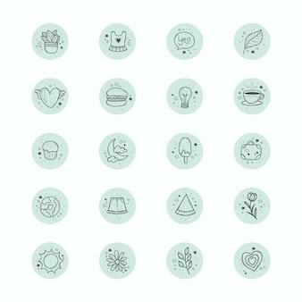 Ręcznie rysowane wyróżnienia na instagramie