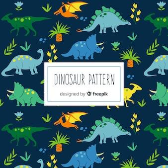 Ręcznie rysowane wzór dinozaura