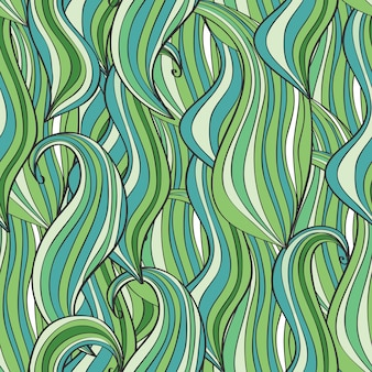 Ręcznie rysowane wzór fala, fale tło. może być używany do tapet, wypełnień deseniem, tła strony internetowej, tekstur powierzchni