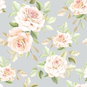 Ręcznie rysowane wzór kwiatowy