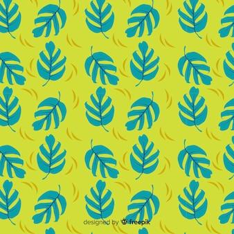 Ręcznie rysowane wzór liści monstera