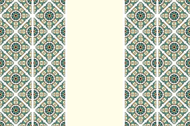 Ręcznie rysowane wzór mandali vintage