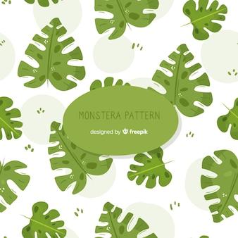 Ręcznie rysowane wzór monstera