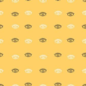 Ręcznie rysowane wzór oczu dla jogi