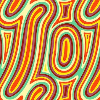Ręcznie rysowane wzór psychodeliczny z płaskim groovy