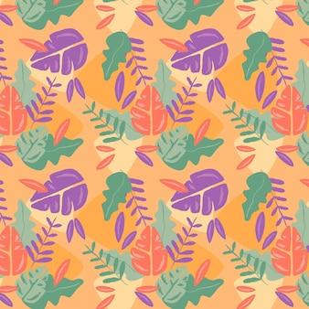 Ręcznie rysowane wzór roślin w stylu abstrakcyjnym