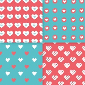 Ręcznie rysowane wzór serca