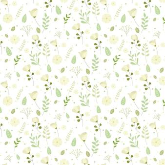Ręcznie rysowane wzór tłoczonych kwiatów