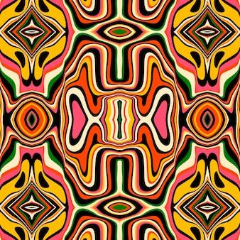 Ręcznie rysowane wzór w stylu groovy