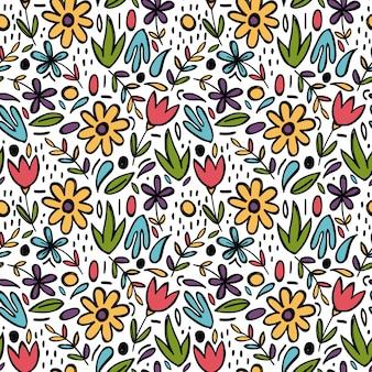 Ręcznie rysowane wzór wiosny