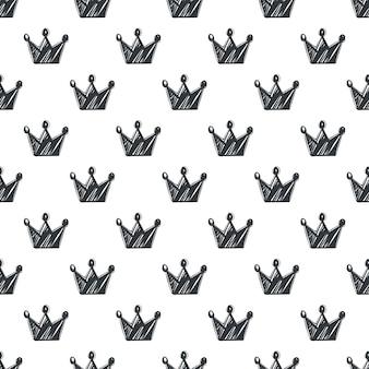 Ręcznie rysowane wzór z koronami