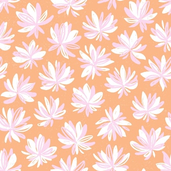 Ręcznie rysowane wzór z kwiatami.