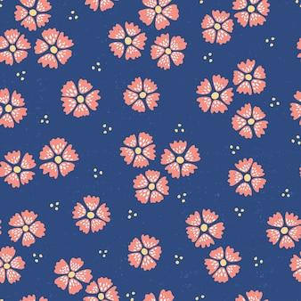 Ręcznie rysowane wzór z słodkie kwiaty.