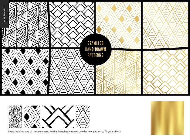 Ręcznie rysowane wzory - biały