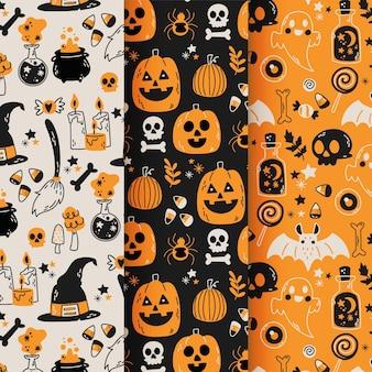 Ręcznie rysowane wzory halloween