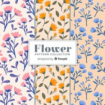 Ręcznie rysowane wzory kwiatów