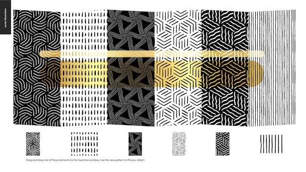 Ręcznie rysowane wzory, sztuk