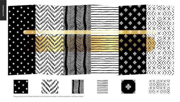 Ręcznie rysowane wzory - sztuk