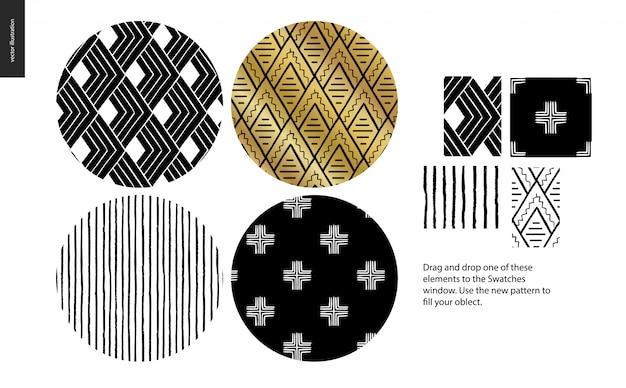 Ręcznie rysowane wzory - zaokrąglone