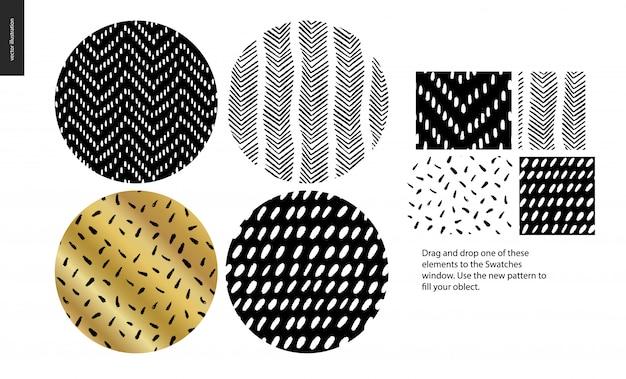 Ręcznie rysowane wzory