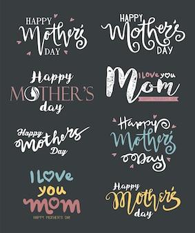 Ręcznie rysowane z happy mother's day