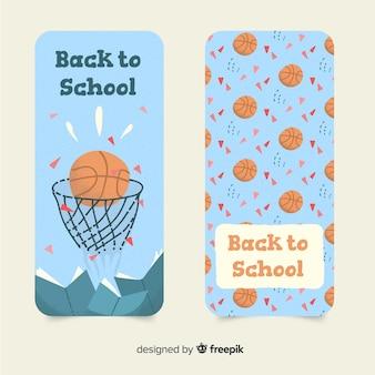 Ręcznie rysowane z powrotem do szkolnego banera