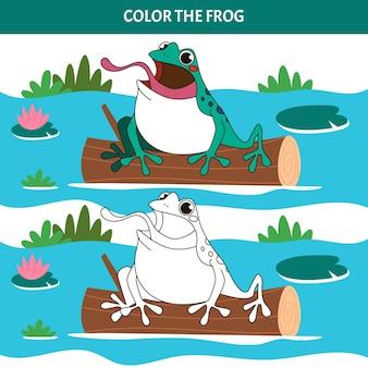 Ręcznie rysowane żaba do kolorowania