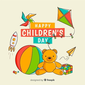 Ręcznie rysowane zabawki na dzień dziecka