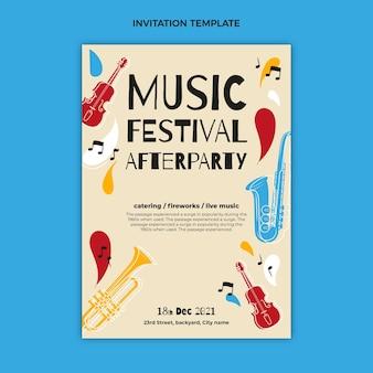 Ręcznie rysowane zaproszenie na festiwal instrumentów muzycznych
