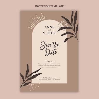 Ręcznie rysowane zaproszenie na ślub natury
