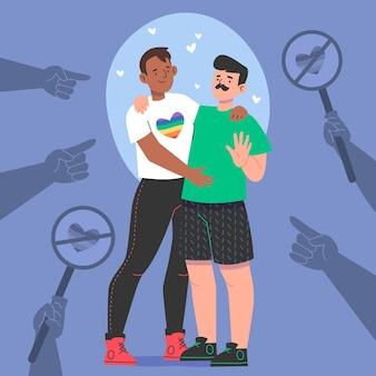 Ręcznie rysowane zatrzymaj homofobię