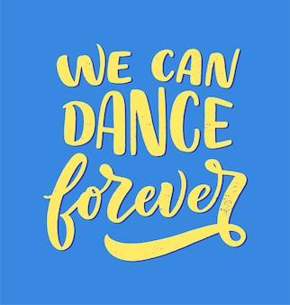Ręcznie rysowane zdanie o tańcu do druku