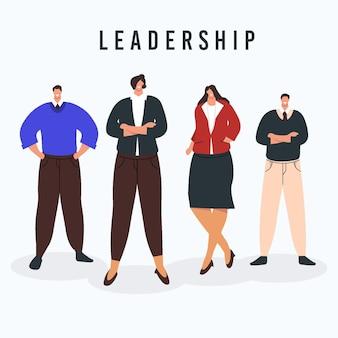 Ręcznie rysowane żeński lider zespołu