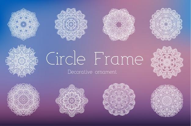 Ręcznie rysowane zestaw abstrakcyjne tło ornament ilustracja koncepcja