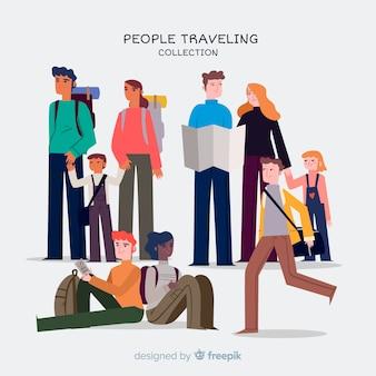 Ręcznie rysowane zestaw podróżny
