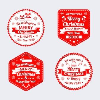 Ręcznie rysowane zestaw świąteczny znaczek