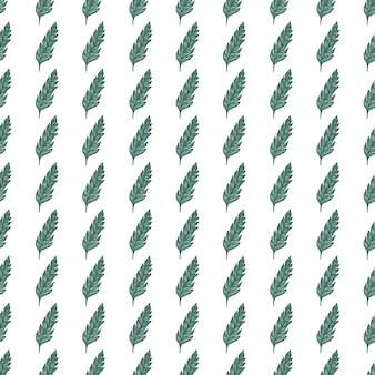 Ręcznie rysowane zielonych liści wzór na białym tle. streszczenie tapetą z motywem kwiatowym.