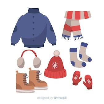 Ręcznie rysowane zimowy strój
