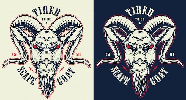 Ręcznie rysowane znaczek kozy