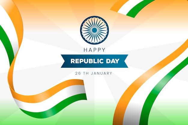 Ręcznie rysowany dzień republiki indii