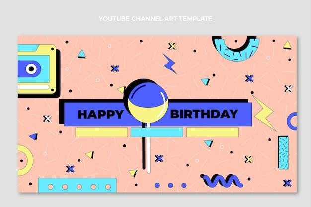 Ręcznie rysowany kanał youtube z okazji urodzin z lat 90.