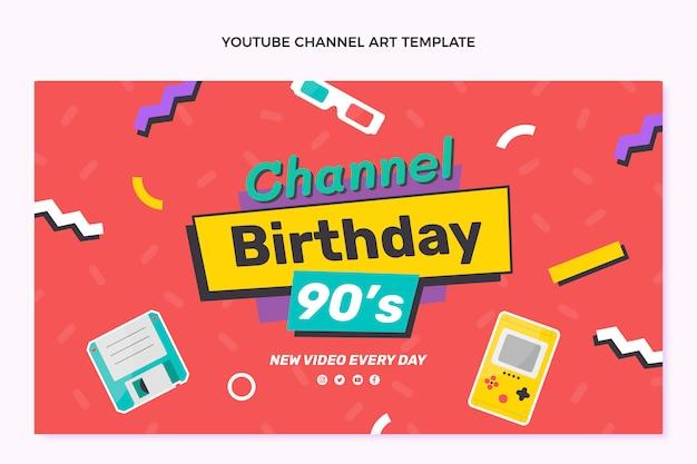 Ręcznie rysowany urodzinowy kanał youtube