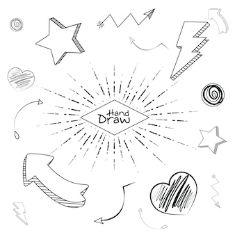 Ręcznie rysuj kształty i kreskówki