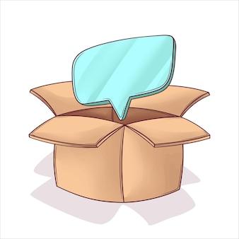 Ręcznie Wyjęty Z Pomysłu Na Pudełko Premium Wektorów