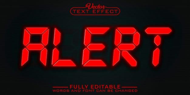 Red alert edytowalny szablon efektu tekstowego