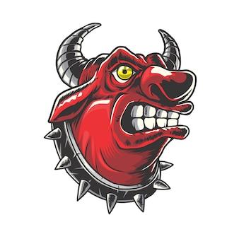 Red bull head ilustracja
